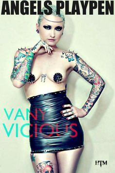 Vany Vicious #Tatted #Angel #Miami #Feature #Model #Explore #HeavenOnEarth #AngelsPlaypen #Magazine