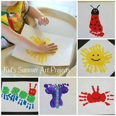 Summer art projects for kids Daycare Crafts, Baby Crafts, Preschool Crafts, Fun Crafts, Crafts For Kids, Daycare Rooms, Summer Art Projects, Summer Crafts, Projects For Kids