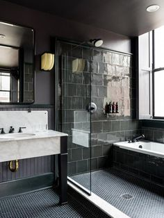 Bathroom decor for the master bathroom remodel. Discover master bathroom organization, bathroom decor some ideas, master bathroom tile tips, master bathroom paint colors, and much more. Hotel Bathroom Design, Modern Bathroom Design, Bathroom Renovations, Hotel Bathrooms, Dream Bathrooms, Remodel Bathroom, Shower Remodel, Master Bathrooms, Bedroom Modern