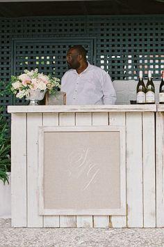 monogram wooden bar   Ashley Seawell #wedding