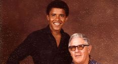 Barack Obama and his grandfather Stanley Dunham