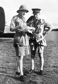Archibald Wavell (right), 1st Earl Wavell, Viceroy/Governor General of British Raj (Present-Day India, Pakistan, Bangladesh, and Burma/Myanmar) from 1st October 1943 – 21st February 1947. Photo taken in 1941/1942. British Raj entered the war on September 3rd 1939 with the British Empire. http://en.wikipedia.org/wiki/Archibald_Wavell,_1st_Earl_Wavell