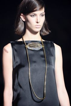 Lanvin agate necklace