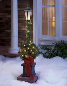 beautiful next to a porch christmas lamp post christmas parties merry christmas christmas - Outdoor Christmas Lamp Post Decoration