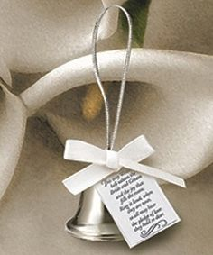 Mini Silver Kissing Bell Wedding Favors (Box of 24) from Wedding Favors Unlimited