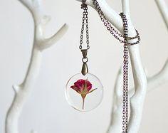 Acorn amber necklace Autumn Fall jewelry botanical por EightAcorns