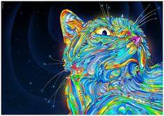 Midnight cat - Illustrator cs3 Photoshop cs3 (c)Matei Apostolescu