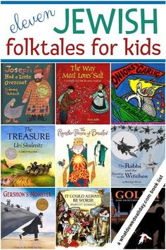 Fun Jewish folktales for kids. Picture books to introduce your kids to Jewish and Yiddish folklore.