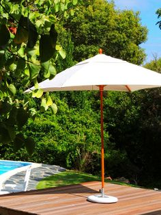 Customised parasols from Cape Canvas.