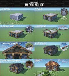 Minecraft Cottage, Minecraft Castle, Cute Minecraft Houses, Amazing Minecraft, Cool Minecraft, Minecraft Crafts, Minecraft Building Blueprints, Minecraft Plans, Minecraft Survival