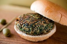 NYT Cooking: These delicious vegetarian patties have a great texture because of the almonds and bulgur. Like other vegetarian patties, they can be a little tricky to turn when you brown them. If they break apart, just patch them together.