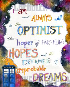Improbable Dreams - Doctor Who - Vertical Print