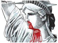Editorial Cartoon: HIT LADY