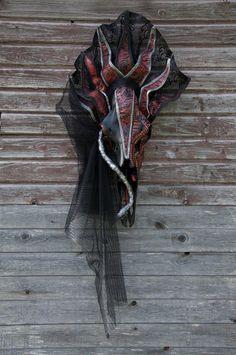 Erexhkigal / Hand Painted / REAL Animal by Skulls & Bones Artwork, Petra Shara Stoor