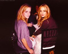 Emma watson with Jennifer Lawrence.... my two fav actresses in the UNIVERSE