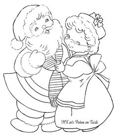 Christmas Yard Art, Christmas Scenes, Christmas Colors, Christmas Crafts, Christmas Christmas, Christmas Embroidery Patterns, Embroidery Patterns Free, Vintage Embroidery, Cat Coloring Page