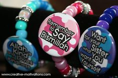 Taqwa Bracelets for KIDS - Islamic Reminder Bracelets. $5.00, via Etsy.