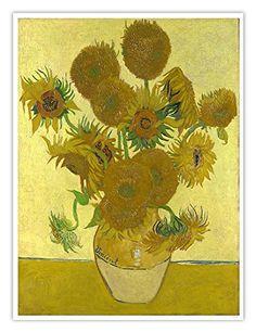 Sunflowers 1888 Vincent van Gogh Dutch) Oil on canvas National Gallery London England Canvas Art - Vincent van Gogh x Van Gogh Museum, Van Gogh Flower Paintings, Vase With Fifteen Sunflowers, Van Gogh Pinturas, Vincent Willem Van Gogh, Sunflower Vase, Sunflower Canvas, Sunflower Gifts, Van Gogh Sunflowers