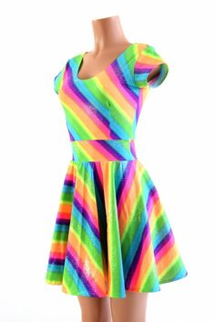 0dbc0c3c Spectrum Sparkle Skater Dress. SpectrumCap SleevesSkater DressesRainbowsSweet  ...