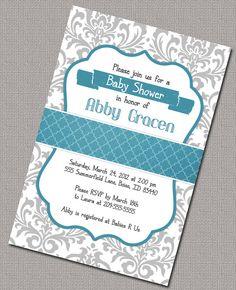 Baby Boy Shower Invitations Printable