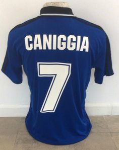 a1f639642 Italy 1990 World Cup retro Argentina away soccer jersey replica Claudio  Paul Caniggia Usa World Cup