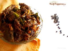 Beef Pepper Fry | Beef Kurumulakittathu Spicy Recipes, Steak Recipes, Indian Food Recipes, Ethnic Recipes, Indian Tacos, Moroccan Spices, Beef Curry, Fried Beef, Beef Stir Fry