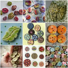making your own polymer clay buttons. This would be so wonderful to know how to do! #buttoncollector