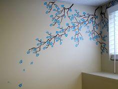 Cherry Blossom Stencil Wall Art - Marjolaine Walker