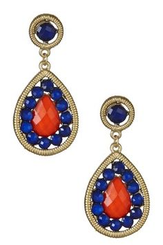 Peacock Earrings - Perfect for Illini games!