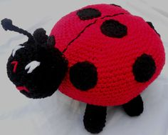 Lady Bug Toy Stuffed Insect. This is nice because it reduces the form of a lady bug to simple spheres and ovals