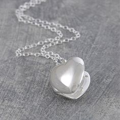 Otis Jaxon Sterling Silver Polished Heart Locket Pendant | ACHICA