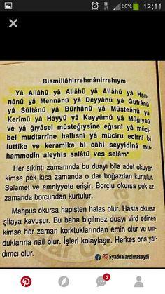 Güzel bir dua Allah Islam, Islam Quran, My Dua, Love Spell Caster, My Prayer, S Word, Alhamdulillah, Sentences, Prayers