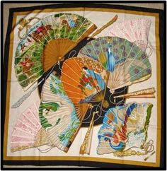 Black and multicolor Hermès silk scarf with  Brise de Charme  motif and  hand rolled edges. Louisa D · Le carre de soie HERMES 72158a90ea7