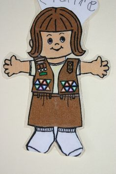 Paper Doll Kaper Chart: Girl Scout Troop Meeting Tool for Delegating Jobs