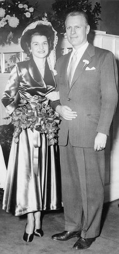 Gerald and Betty Ford on their wedding day