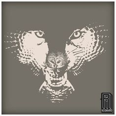H.owl  Wolf/ Owl Optical Illusion Design
