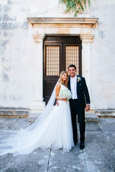 Image by Nikola Smernic - Pronovias Wedding Gown With Jimmy Choo Sandals For A Luxury Wedding In Croatia With Bridesmaids In Pink Coast Dresses And Images By Nikola Smernic