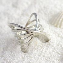 Fashionable ring best used for ring stacking. #fashion #style #rings #charmsandstyle  Size: 7 Metal: Silver Plated