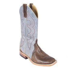 """Anderson Bean Tobacco Intimidation Mens Boots is a Teskey's Exclusive design. Ocean WipeOut top is 12"""". This boot features a square toe and walking heel."""
