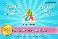 dripservice: add Your site to 700 HQ social bookmarks and do 300 PR8 to PR10 social signals for $5, on fiverr.com