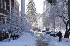 a typical winter day at SRU.