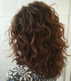 60 Most Beneficial Haircuts for Thick Hair of Any Length - - Medium Curly Cut With Layers Layered Curly Hair, Thick Curly Hair, Natural Wavy Hair, Haircut For Thick Hair, Curly Hair Tips, Haircuts For Long Hair, Long Curly Hair, Curly Hair Styles, Short Haircuts