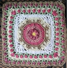 "Fountain of Roses Square 6""/12"" (pattern)"