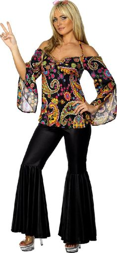 Hippies Clothing in the 60s | Adult Hippie Hippy Groovy Fancy Dress Costume 60s 70s Sexy Ladies ...