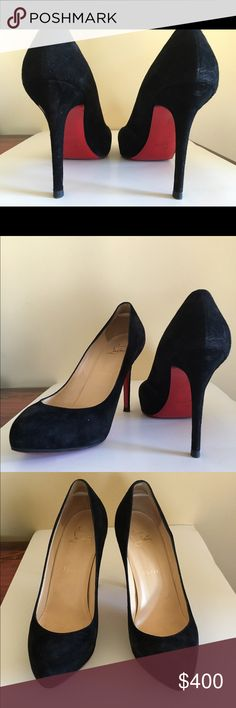 Christian Louboutin size 38 suede pump Basically new louboutin suede pumps size 38. One have been worn twice. Nice and clean, they have also been resurfaced. Christian Louboutin Shoes Heels