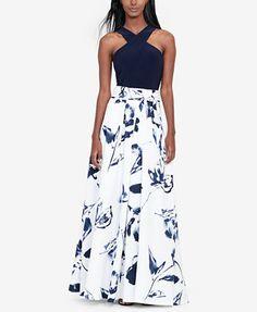 Lauren Ralph Lauren Floral-Print Ballgown | macys.com