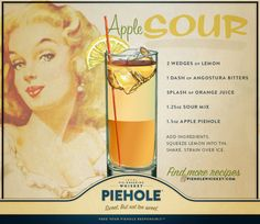 Slice off a shot with this delicious recipe for Piehole Whiskey Apple Sour.