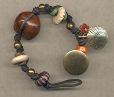 BoHo Chic Bracelet    Hawaiian Kukui Seed  Ceramic by Lynnaddison, $22.50