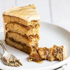 Caramel Apple Streusel Pie How To Make Butterscotch, Butterscotch Cake, Great Desserts, Dessert Recipes, Brownie Recipes, Delicious Desserts, Sour Cream Cake, Ice Cream, Cake Fillings