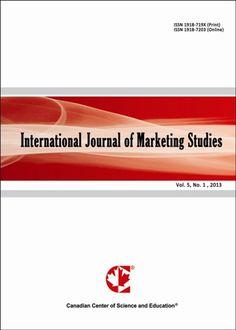 MARKETING (International Journal of Marketing Studies : vol 5, n° 2 / 2013). Acceso al texto completo.